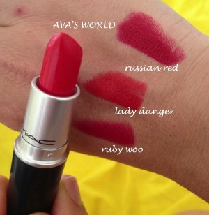 RUBY woo LADy danger RUSSIAN red
