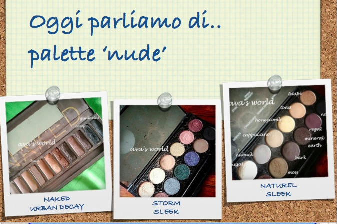 palette naked storm naturel sleek