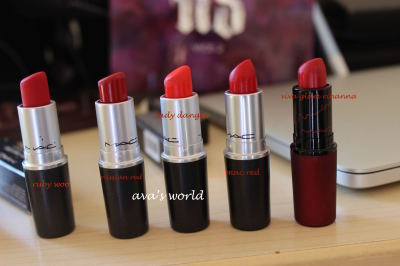 mac red ruby woo russian red viva glam rihanna