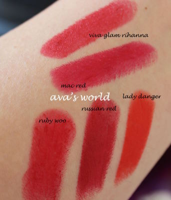 mac red rihanna ruby russian ladyd