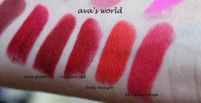 mac mat russian red lady danger la vie en rouge viva glam I