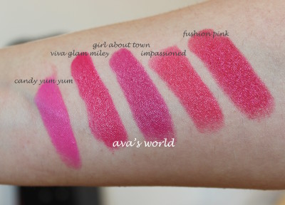 candy yum yum viva glam miley impassioned girl about town fusion pink
