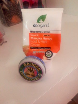 dr organic manuka crema piedi badger cuticle care