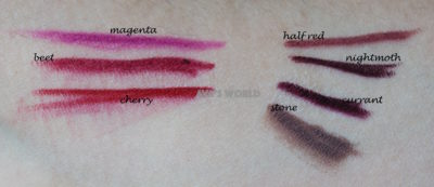 mac lip pencil magenta beet cherry half red nightmoth currant stone