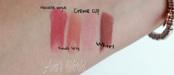 nutcracker-minis-lipstick-swatch-whirl-creme-cup-kinda-sexy-nouvelle-vogue